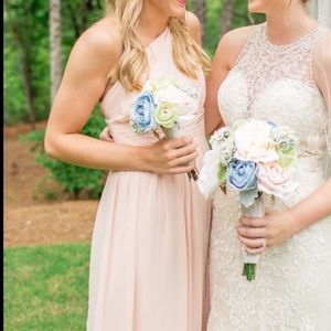 David's Bridal Bridesmaid Dress Blush